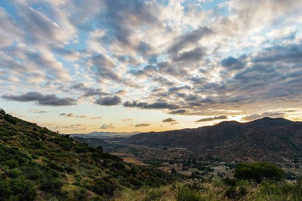 Sunset Over El Monte Valley Art Print