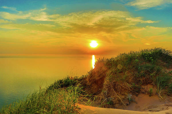 Photograph - Sunset Over Empire Bluff Sleeping Bear Dunes by Dan Sproul