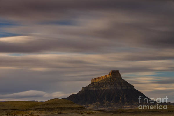 Photograph - Sunset Over Factory Butte by Keith Kapple
