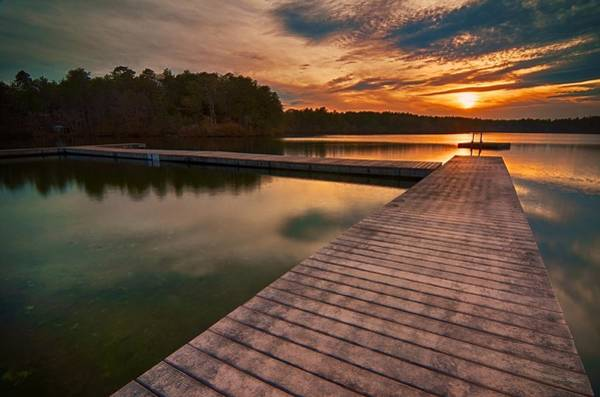 Cachalot Wall Art - Photograph - Sunset Over Five Mile by Dennis Wilkinson