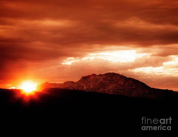 Photograph - Sunset Over Granite Mountain by Scott Kemper