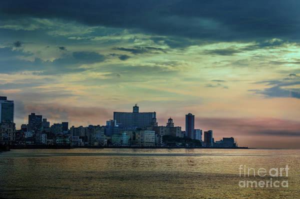 Evening Wall Art - Photograph - Sunset Over Havana City 2 by Viktor Birkus