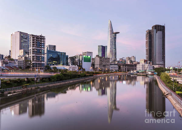 Photograph - Sunset Over Ho Chi Minh City Skyline In Vietnam by Didier Marti