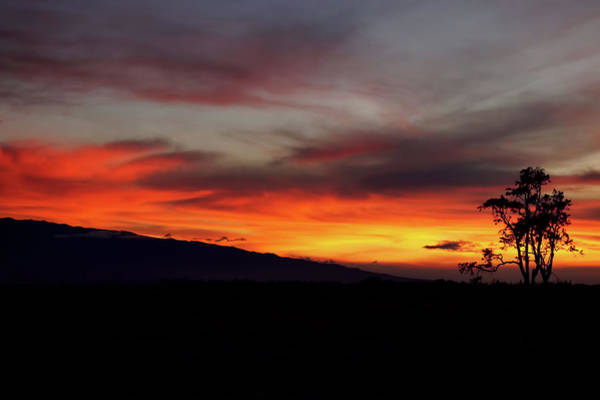 Photograph - Sunset Over Hualalai by Pamela Walton