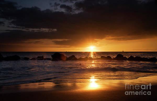 Photograph - Sunset Over Kawaihae Harbor by Charmian Vistaunet
