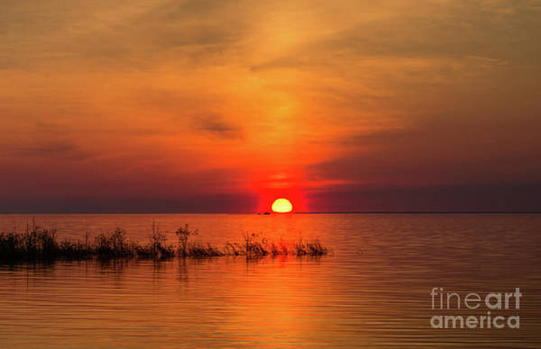 Photograph - Sunset Over Lake Michigan by Les Palenik