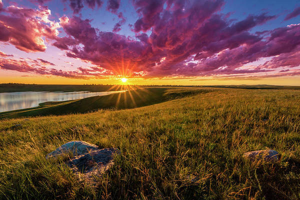 Photograph - Sunset Over Lake Oahe by Andy Crawford