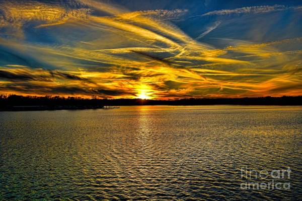 Sunset Over Lake Palestine Art Print