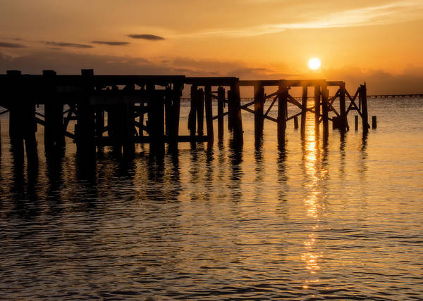 Photograph - Sunset Over Lake Pontchartrain by Chris Coffee