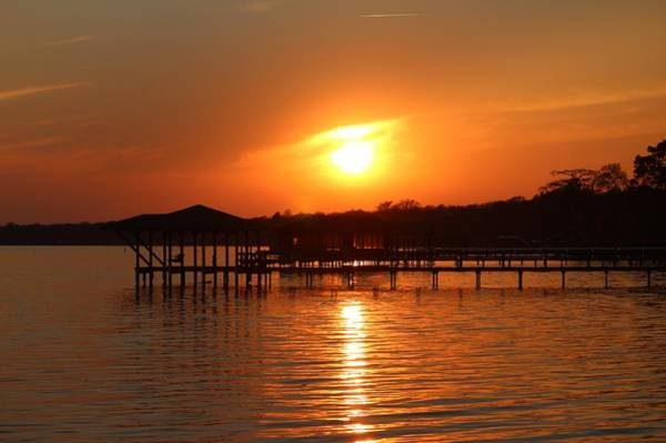 Photograph - Sunset Over Lake Waccamaw 1 by Cynthia Guinn