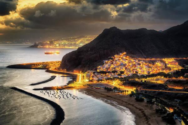 Photograph - Sunset Over Las Teresitas - Tenerife, Spain by Nico Trinkhaus