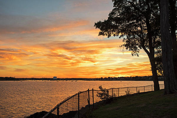 Photograph - Sunset Over Lynch Park Beverly Ma Water Tower by Toby McGuire