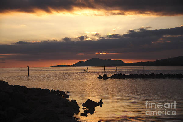 Sunset Over Maunalua Bay Art Print