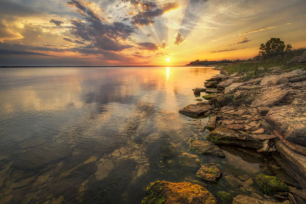 Milford Photograph - Sunset Over Milford Lake by Scott Bean