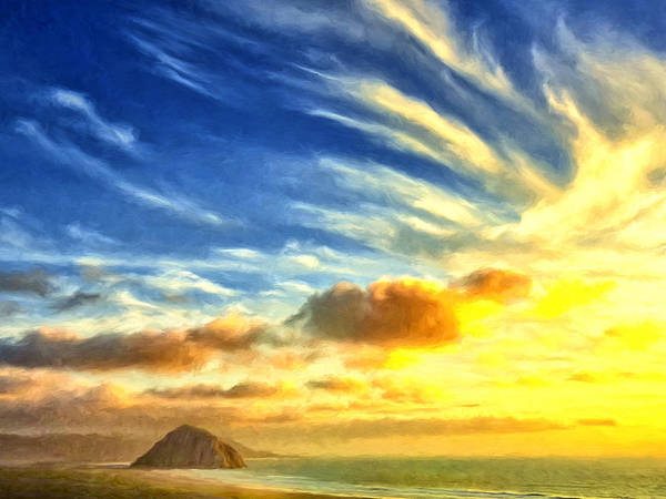 Painting - Sunset Over Morro Bay by Dominic Piperata