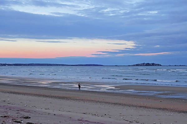 Photograph - Sunset Over Nahant From Revere Beach Revere Ma by Toby McGuire
