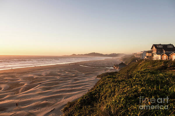 Photograph - Sunset Over Newport Beach In Oregon by Didier Marti
