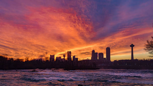 Photograph - Sunset Over Niagara Falls by Guy Whiteley