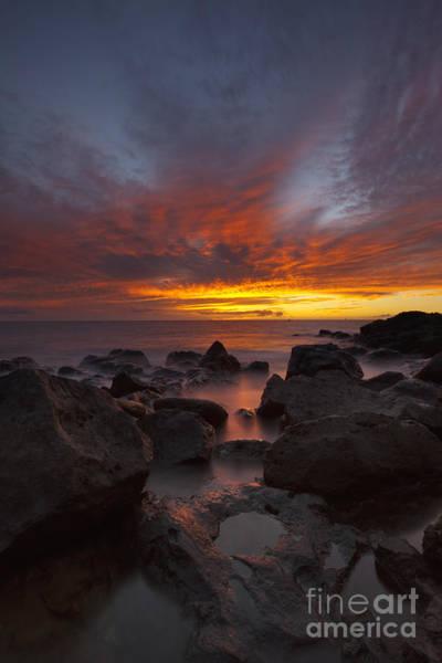 Photograph - Sunset Over Ocean At Kawaihae by Charmian Vistaunet