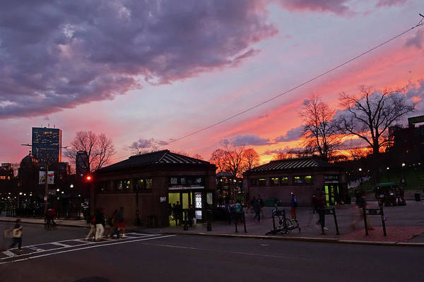 Photograph - Sunset Over Park Street And The Boston Common Boston Ma by Toby McGuire