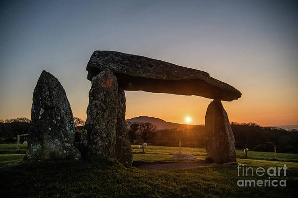 Photograph - Sunset Over Pentre Ifan Neolithic Burial Chamber by Keith Morris