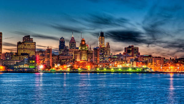 Pa Photograph - Sunset Over Philadelphia by Louis Dallara