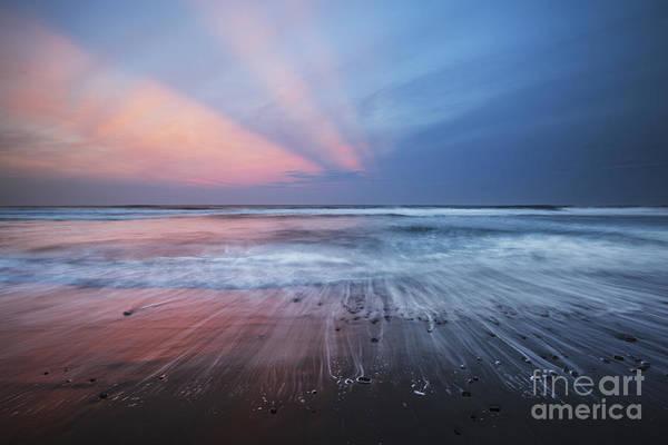 Photograph - Sunset Over Pololu Black Sand Beach by Charmian Vistaunet