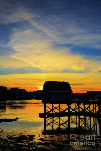 Lobster Photograph - Sunset Over Portsmouth New Hampshire by Edward Fielding