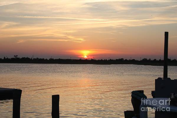 Silhoutte Photograph - Sunset Over Reynolds Channel In Point Lookout by John Telfer