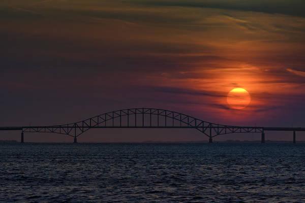 Photograph - Sunset Over Robert Moses Causeway by Rick Berk
