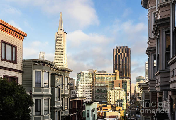 Photograph - Sunset Over San Francisco Business District From Telegraph Hill  by Didier Marti