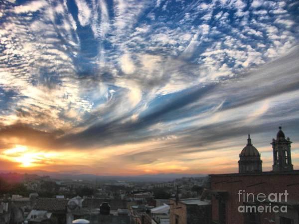 Digital Art - Sunset Over San Miguel De Allende by John  Kolenberg