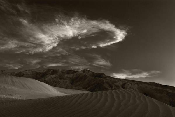 Death Valley Photograph - Sunset Over Sand Dunes Death Valley by Steve Gadomski