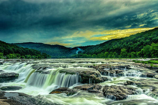 Photograph - Sunset Over Sandstone Falls by Donald Brown