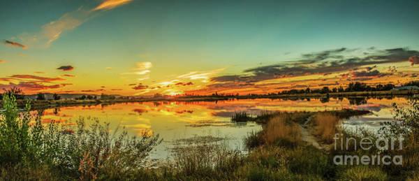 Wall Art - Photograph - Sunset Over Sawyer Pond by Robert Bales