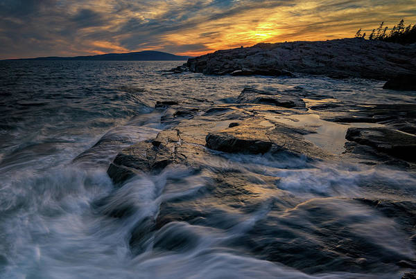 Photograph - Sunset Over Schoodic Point by Rick Berk
