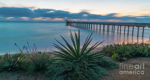 Scripps Pier Photograph - Sunset Over Scripps Pier La Jolla by Elliot H