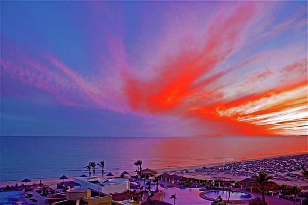 Wall Art - Photograph - Sunset Over Sea Of Cortez And Encanto Near Puerto Penasco In Sonora-mexico by Ruth Hager