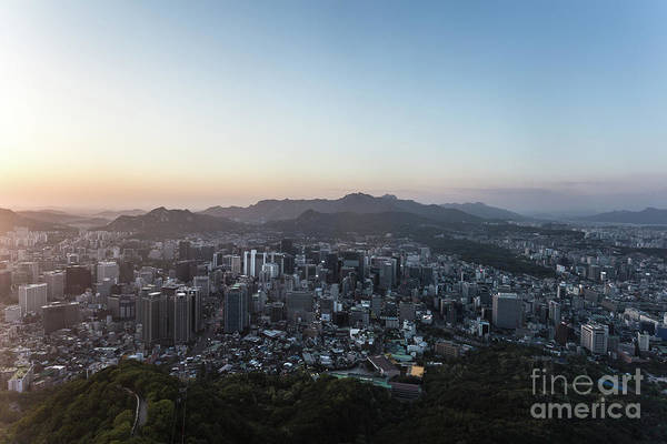 Photograph - Sunset Over Seoul In Korea by Didier Marti
