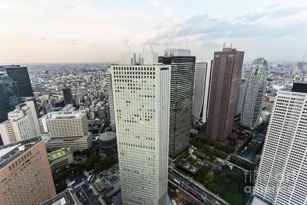 Photograph - Sunset Over Shinjuku, Tokyo by Didier Marti