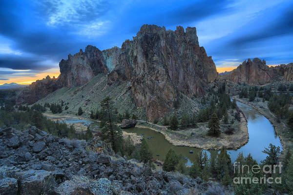 Redmond Photograph - Sunset Over Smith Rock by Adam Jewell