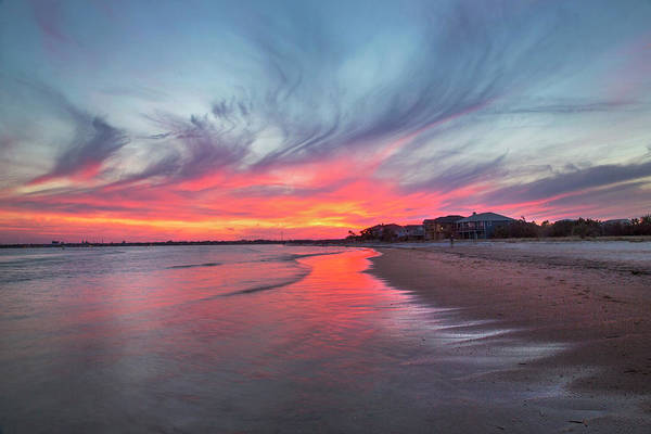 Matanzas Inlet Wall Art - Photograph - Sunset Over St. Augustine by Robin Anderson