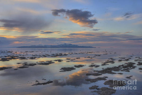 Photograph - Sunset Over Stansbury Island by Spencer Baugh