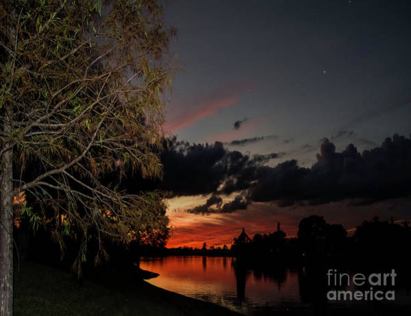 Photograph - Sunset Over The Caloosahatchee by Judy Hall-Folde