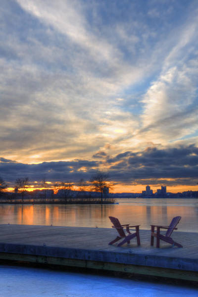 Photograph - Sunset Over The Charles River - Boston by Joann Vitali