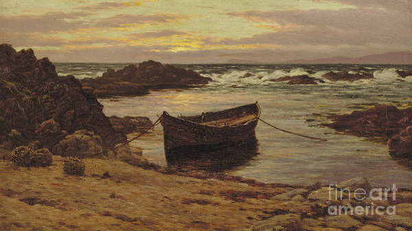 Rocky Coast Painting - Sunset Over The Coast  by Colin Hunter