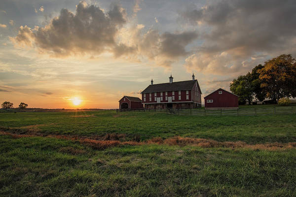 Wall Art - Photograph - Sunset Over The Codori Farm by Dave Sandt