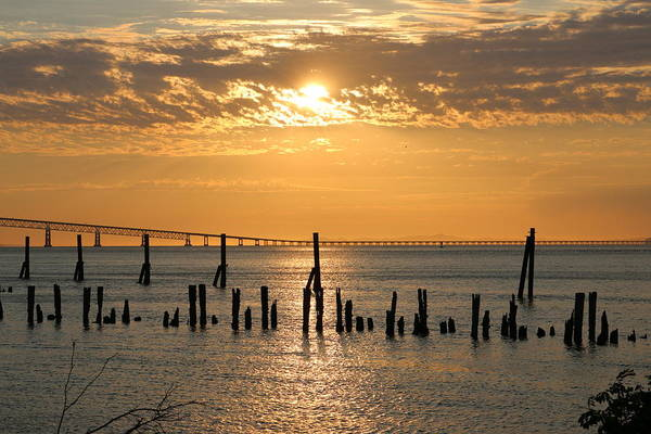 Photograph - Sunset Over The Columbia River - 5 by Christy Pooschke