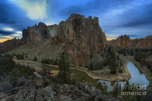 Redmond Photograph - Sunset Over The Crooked River by Adam Jewell
