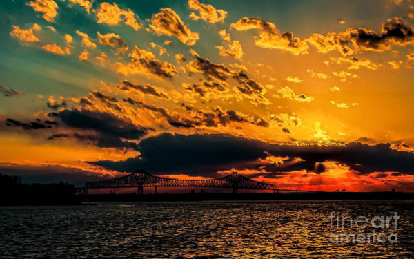 Photograph - Sunset Over The Delaware River by Nick Zelinsky